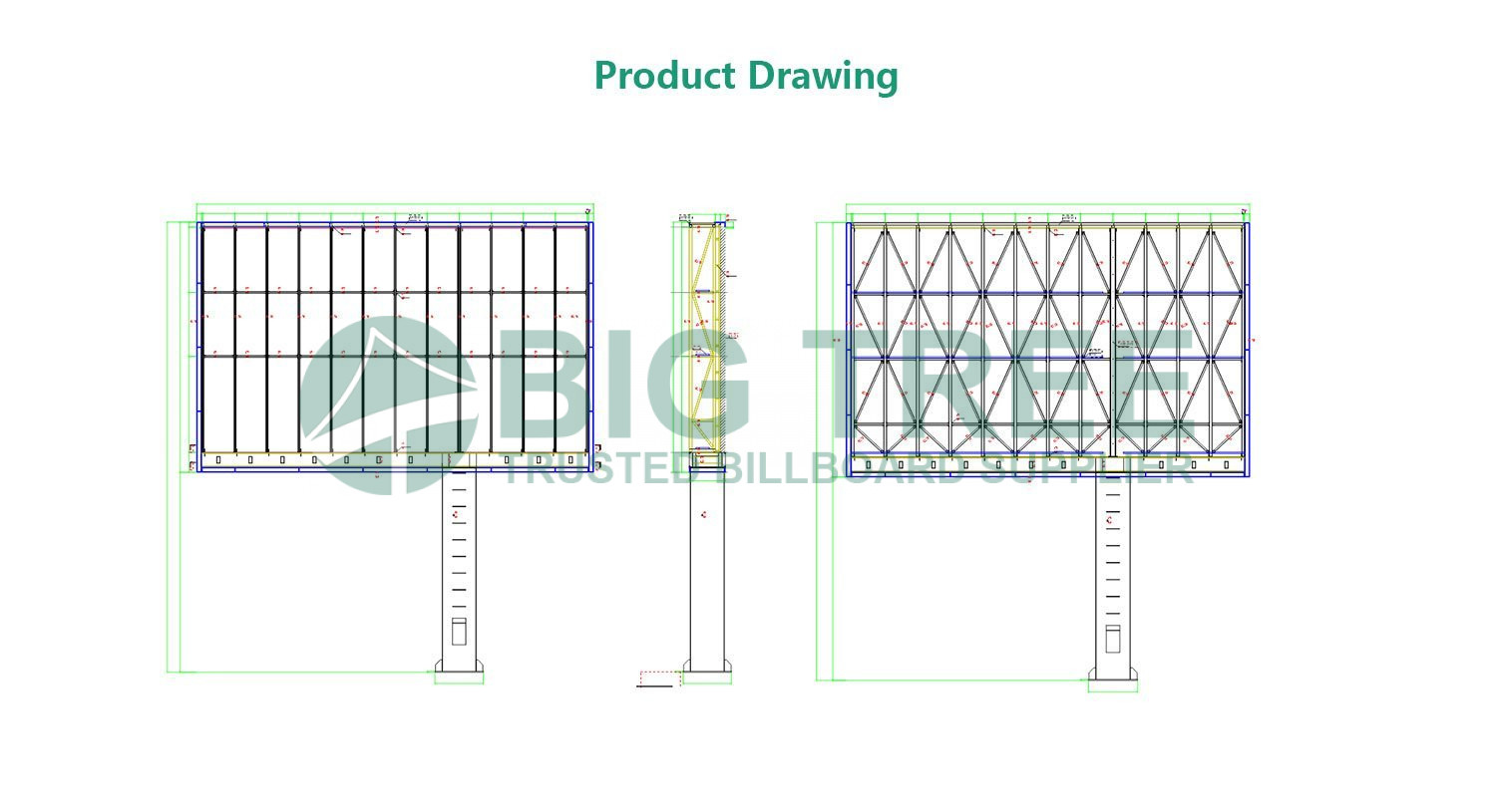 Outdoor-Digital-LED-Screen-Advertising-Unipole-Display drawing